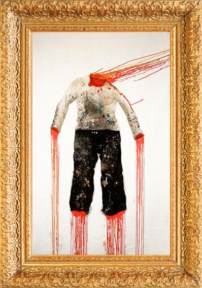 A very democratic painting self explosion volkan diyaroglu